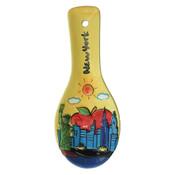 NYC Skyline Yellow Ceramic Spoon Rest