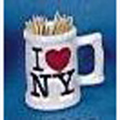 I Love NY Toothpick Holder Mug