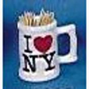 I Love NY Toothpick Holder Mug
