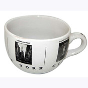 NYC Black & White Pictures Soup Mug