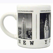 NYC Black & White Pictures Espresso Mug