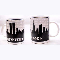 "NYC ""Grey Skyline"" Espresso Mug"