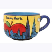 NYC Yellow Skyline Soup Mug