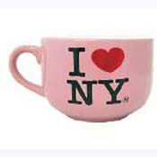 I Love NY Pink Soup Mug