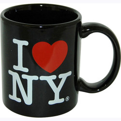 I Love NY Black 11oz. Mug