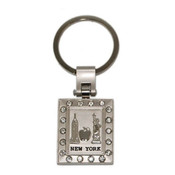 NYC Icons Multi Diamond Keychain