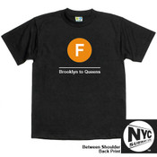 NYC Subway Line-F Train Mens Tee