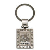 NYC Skyline Multi Diamond Keychain