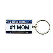 "NY License Plate ""#1 Mom"" Keychain"