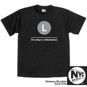 NYC Subway Line-L Train Mens Tee