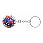 American Flag Baseball Keychain