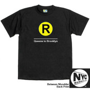 NYC Subway Line-R Train Mens Tee