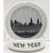 "NYC ""Grey Skyline"" Ceramic Ashtray"