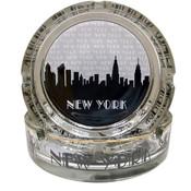 "NYC ""Grey Skyline"" Glass Ashtray"