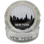"NYC ""Grey Skyline"" Frosted Glass Ashtray"