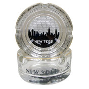 "NYC ""Grey Skyline"" Mini Glass Ashtray"