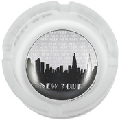 "NYC ""Grey Skyline"" Mini Frosted Glass Ashtray"