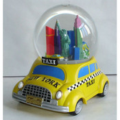 NYC Taxi Base 65mm Snowglobe