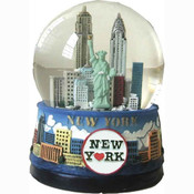 NYC Skyline 100mm Musical Snowglobe