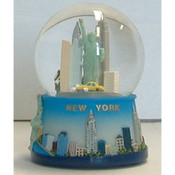 NYC Skyline Blue 45mm Snowglobe