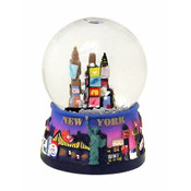NYC Times Sq. Purple 45mm Snowglobe