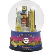New York Sunset Skyline 45mm Snowglobe