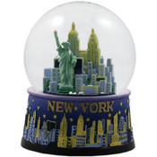 NYC Night Skyline 45mm Snowglobe