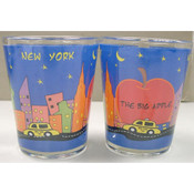 NYC Big Apple Hand Painted Shot Glass