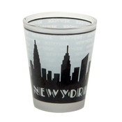 "NYC ""Grey Skyline"" Frosted Shot Glass"