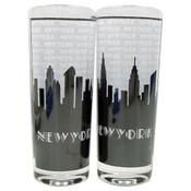 "NYC ""Grey Skyline"" Clear Shooter Glass"