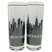 "NYC ""Grey Skyline"" Frosted Shooter Glass"