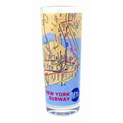 NYC Subway Map Shooter Glass