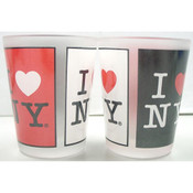 I Love NY 3-Panels Frosted Shot Glass