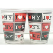 I Love NY 4-Panels Frosted Shot Glass