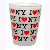 I Love NY Repeat Frosted Shot Glass