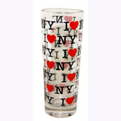 I Love NY Repeat Clear Shooter Glass