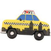 NYC Skyline Taxi Shape Magnet