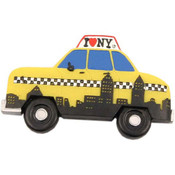 NYC Skyline Taxi Shape Magnet
