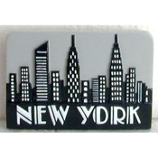 "NYC ""Grey Skyline"" Magnet"