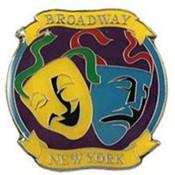 NYC Broadway Metal Magnet