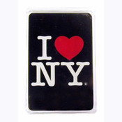 I Love NY Black Playing Cards