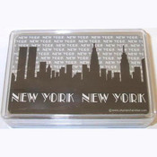 "NYC ""Grey Skyline"" Playing Cards"
