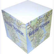 NYC Subway Map Paper Cube