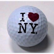 I Love NY White Golf Ball