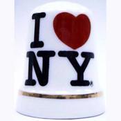 I Love NY White Thimble