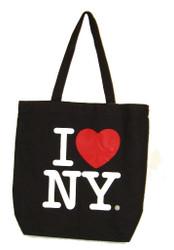 I Love NY Black Canvas Tote Bag
