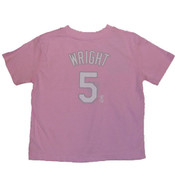 Mets Wright Pink Name & Number Youth Girls Tee