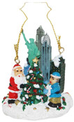 NYC Christmas Tree with Santa Ornament