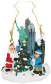 NYC Christmas Tree with Santa Ornament