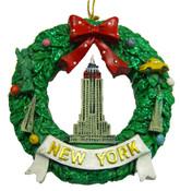 Empire State Building Wreath Ornament